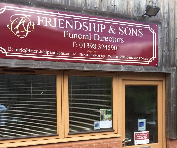 store front friendship and sons