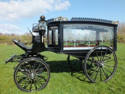 Equus Carriages horse drawn funeral hearse