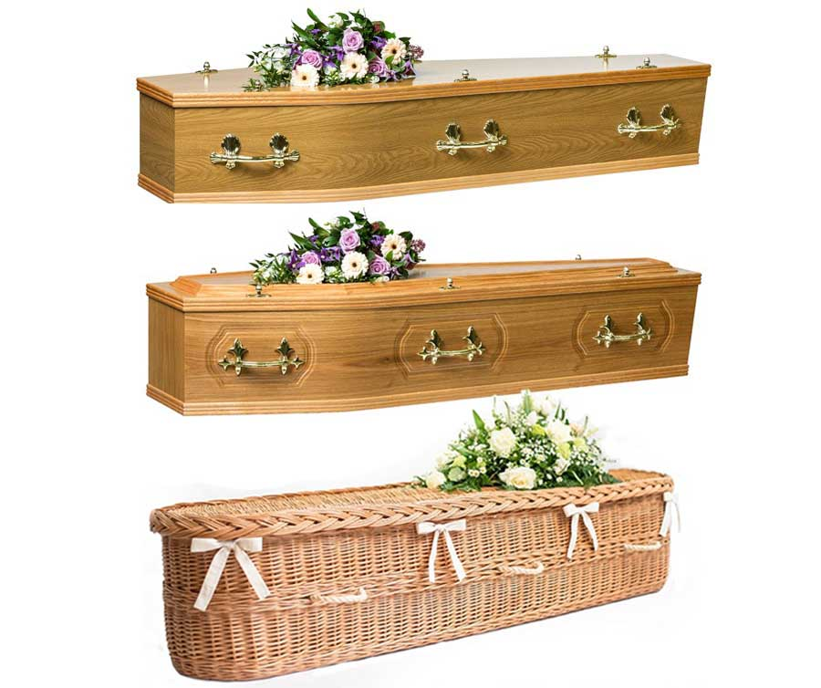 range of coffins